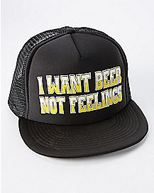 Beer Not Feelings Trucker Hat