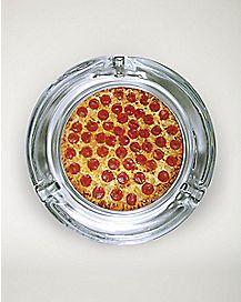 Glass Pizza Ashtray
