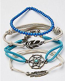 Feather Bracelets - 4 Pack
