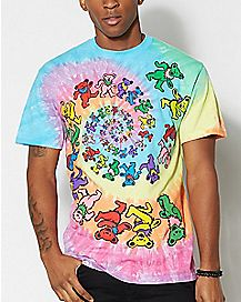 Tie Dye Bear Grateful Dead T Shirt
