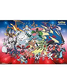Pokemon Evolution Group Poster