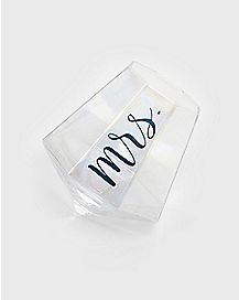 Stemless Mrs Wine Glass - 10 oz