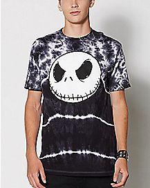 Tie Dye Jack Skellington T Shirt - The Nightmare Before Christmas