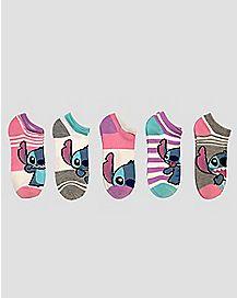 No Show Stitch Socks - 5 Pack
