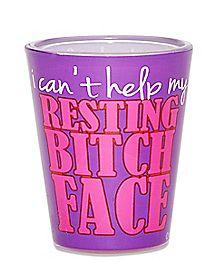 Resting Bitch Face Shot Glass - 1.5 oz.