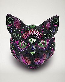 Decorated Cat Head Ashtray