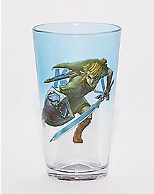 Shield Bottom Breath of the Wild Pint Glass 16 oz. - The Legend of Zelda