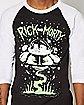Rick and Morty UFO Raglan T Shirt