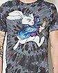 Tie Dye White Rabbit T Shirt - Alice in Wonderland