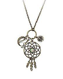 Dream catcher Charm Necklace