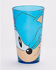 Winking Sonic The Hedgehog Pint Glass - 16 oz.