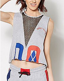 Harley Quinn Cropped Muscle Tank