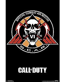 SCAR Symbol Call of Duty Poster