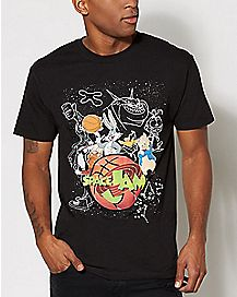 Movie Art Space Jam T Shirt