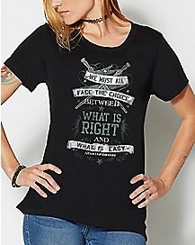 Dumbledore What is Right and What is Easy T Shirt - Harry Potter