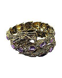 Purple CZ Dragon Wrap Bracelet
