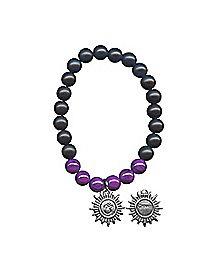 Purple Chakra Charm Bracelet