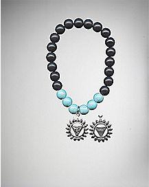 Turquoise-Effect Chakra Charm Bracelet