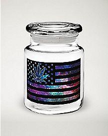 Galaxy Flag Storage Jar - 6 oz