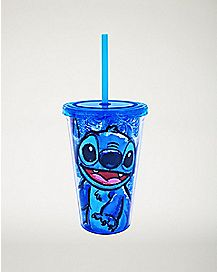 Floral Stitch Cup With Straw - 16 oz