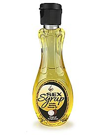 Sex Syrup Warming Tropical Temptation Flavored Massage Oil - 4 oz.