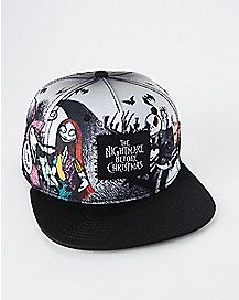 Jack and Sally Snapback Hat - The Nightmare Before Christmas