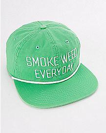 Smoke Weed Everyday Snapback Stash Hat