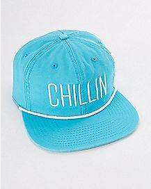 Chillin Blue Snapback Stash Hat