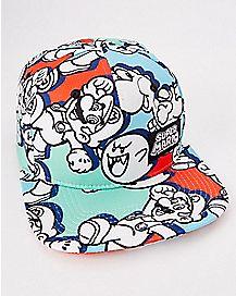 All Over Print Super Mario Snapback Hat - Nintendo