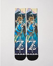 Breath of the Wild Sublimated Crew Socks - The Legend of Zelda