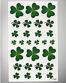 St. Patrick's Day Clover Face Tattoos