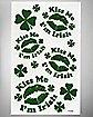 St. Patrick's Day Kiss Me Irish Face Tattoos