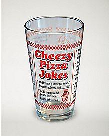Cheezy Pizza Jokes Pint Glass - 16 oz.