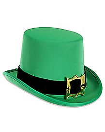 Green St. Patrick's Day Top Hat with Buckle