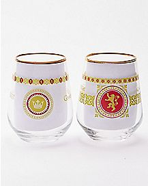 Lannister Game of Thrones Wine Glasses - 2 Pack - 14 oz