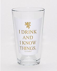 I Drink and I Know Things Game of Thrones Pint Glass - 16 oz.