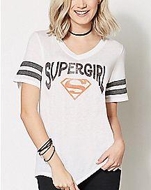 Supergirl Athletics T Shirt - DC Comics