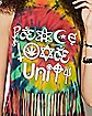 Peace Love and Unity Tie Dye Fringe Tank Top