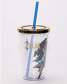 Breath of the Wild Cup with Straw 16 oz - The Legend of Zelda
