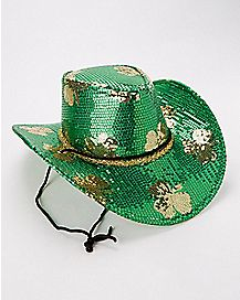 Sequin St. Patrick's Day Cowboy Hat