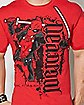 Ambigram Mercenary Deadpool T Shirt - Marvel Comics