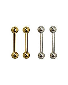 Straight Curved Barbells 4 Pack - 16 Gauge