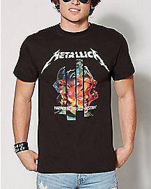 Hardwired to Self-Destruct Metallica T Shirt