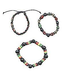 Rasta Bracelets - 3 Pack
