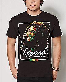Rasta Legend Bob Marley T Shirt