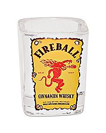 Square Fireball Shot Glass - 1.5 oz.