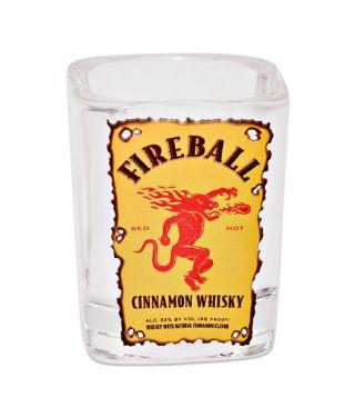 Fireball Square Shot Glass