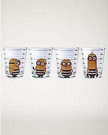 Mug Shot Minions Shot Glasses 4 Pack - 1.5 oz