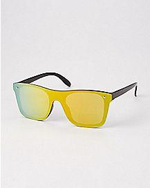 Square Reflector Sunglasses - Orange