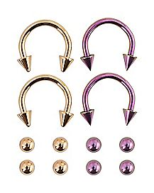 Horseshoe Rings with Extra Balls - 16 Gauge
